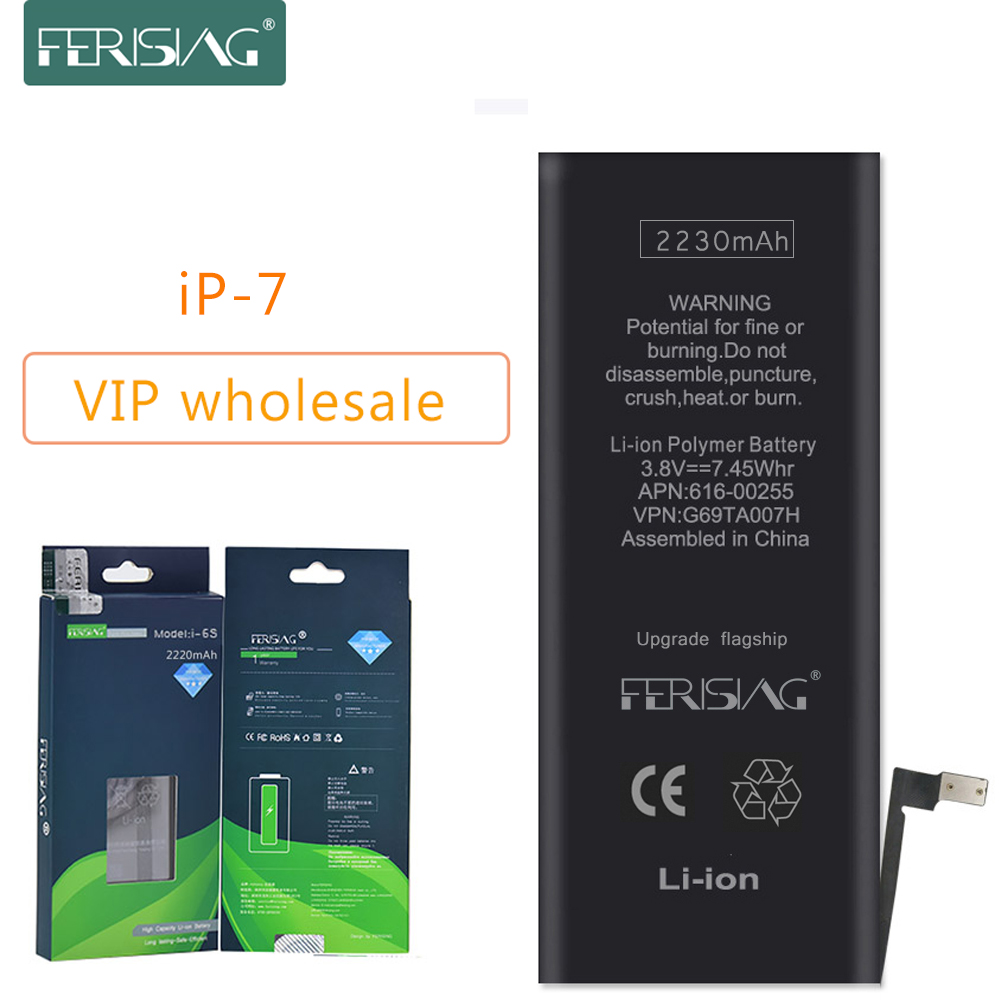 Wholesale (Made in 2019) FERISING New <font><b>OEM</b></font> Phone <font><b>Battery</b></font> For <font><b>iPhone</b></font> <font><b>7</b></font> Original 0 Cycle bateria iPhone7 i7 Replacement <font><b>Batteries</b></font> image