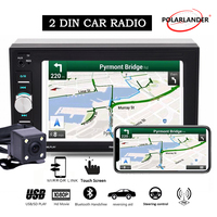 2 Din Car Radio Autoradio Mirror Link Bluetooth Touch Screen Screen Wheel Control With Rear Camera