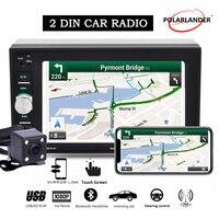 2 Din Car Radio Autoradio Mirror Link Bluetooth Touch Screen Screen Wheel Control With Rear Camera