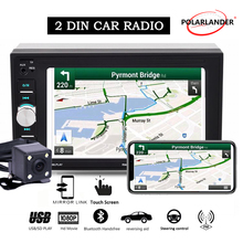 2 din car radio autoradio mirror link Bluetooth touch screen screen wheel control with rear camera mp5 car radio 2 din