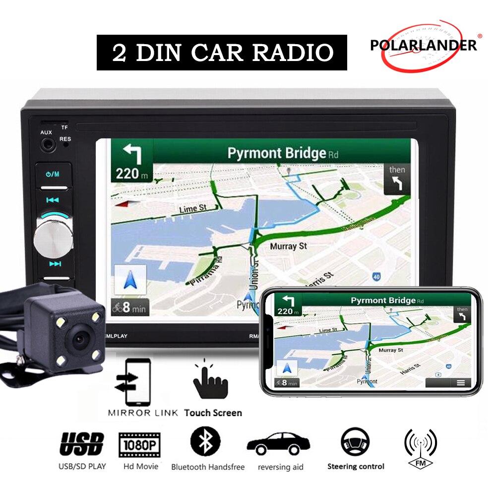 2 din car radio autoradio mirror link Bluetooth touch screen screen wheel control with rear camera mp5 car radio 2 din
