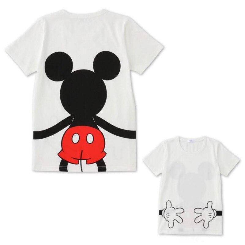 LILIGIRL футболка «Папа и я» летняя одежда для мамы и дочки хлопковый топ с Микки и Минни Маус для мальчиков и девочек, Семейные комплекты - Цвет: Ali913B