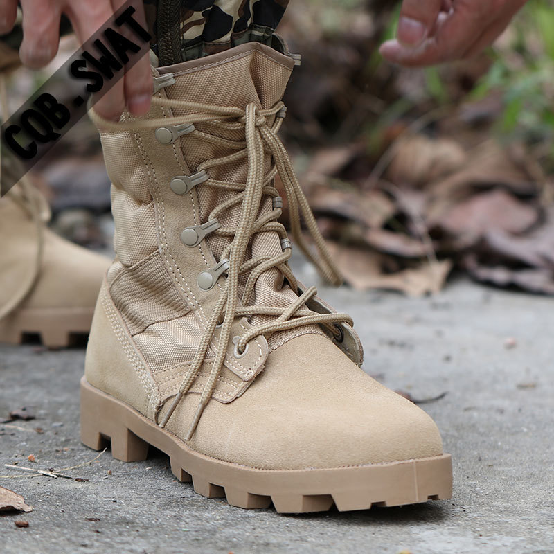 2017 Winter New shose Tactical Boots Men Breathable Camouflage Army Desert Safety Shoes  ...