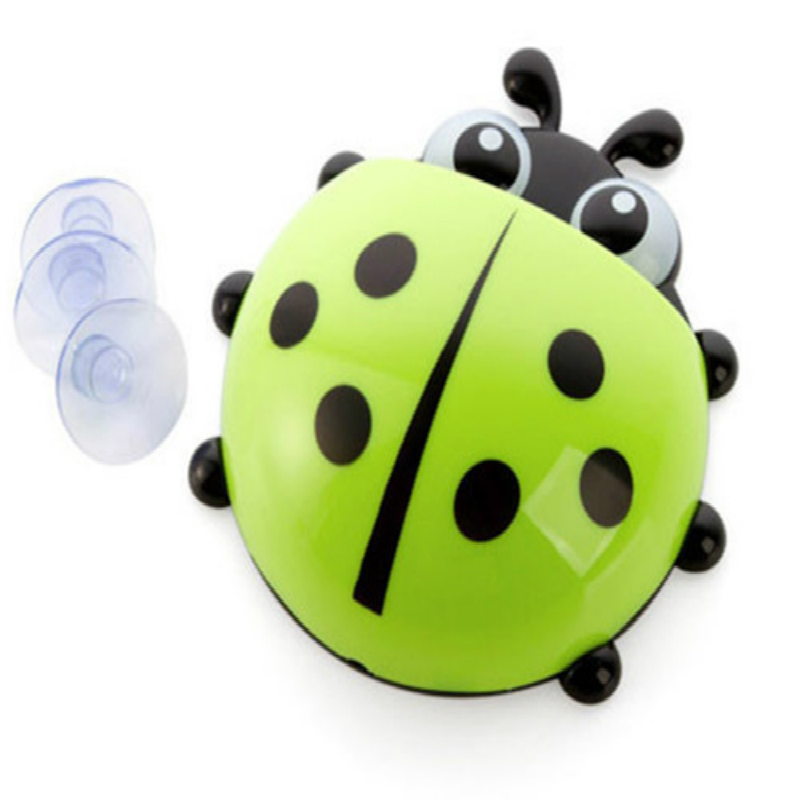 Bathroom Fixtures Bathroom Hardware 1pc Cute Novelty Ladybug Toothbrush Holder Toiletries Toothpaste Holder Bathroom Sets Suction Tooth Brush Container