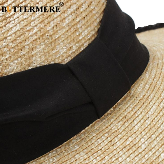 BUTTERMERE Women Sun Hats Beige Casual Straw Hat Female Wide Brim Anti-UV Ladies Summer Travel Sombreros Beach Caps Fashion 2018 4