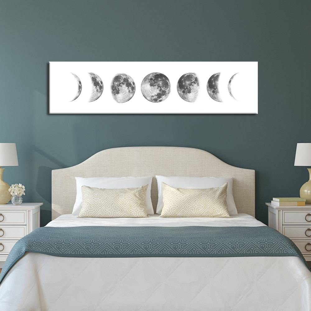 Nordic Long Banner Print Living Room Bedroom Decoration Eclipse Of The Moon Canvas Poster Graphic Wall Picture No Frame cuadros
