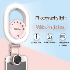 2 в 1 смартфон кольцо селфи свет широкоугольный Макро телефон камера фотография свет 15X макро объектив 4K широкоугольный HD небольшой съемки