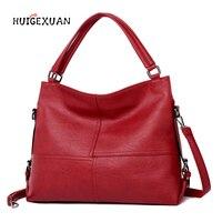 Famous Designer Handbag Women PU Leather Soft Simple Shoulder Handbag Fashion 2 Straps Sac A Main Shoulder Bag Shopper Girl Tote