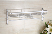 New Arrical Free Shipping Wall Mounted Double Layers(50cm) Bathroom Shelves ,Bathroom Rack, Bathroom Accessories-Wholesale5850