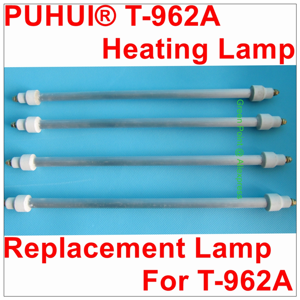 PUHUI T-962A Heating Lamp Pipe T962A Repacement Heated Lamp Tube T 962A Reflow Wave Oven Bulb Heating Pipe  Accessory