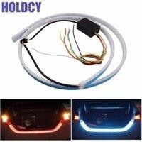 1Set Car LED Strip Lighting Rear Trunk Tail Light Dynamic Streamer Brake Turn Signal Reverse Leds