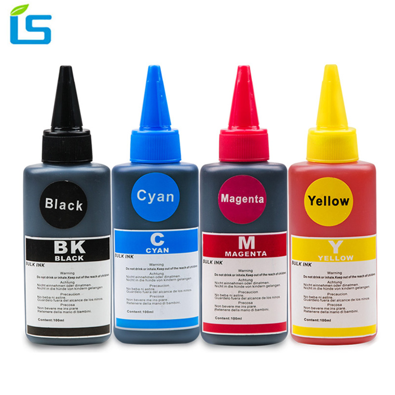 4Pcs 100ml Universal Dye Ink Refill Ink kit for Epson for Canon for HP for Brother for Lexmark for DELL Inkjet Printer for CISS schwarzkopf краситель без аммиака 4 62 средний коричневый шоколадный пепельный essensity permanent colour 60 мл