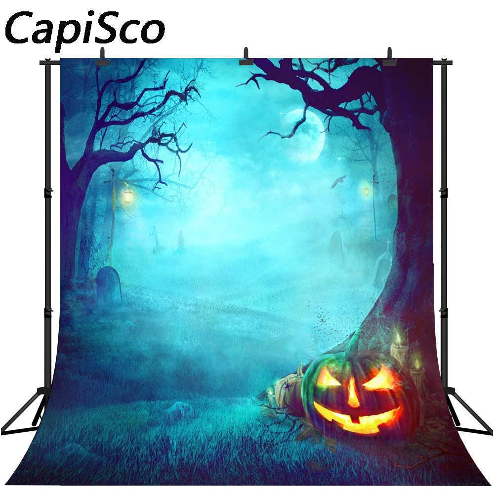 Фотофоны Capisco Хэллоуин Тыква хази горный лес Хэллоуин Дети фотосессия фон для фотостудии