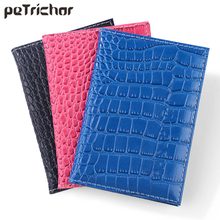 New PU Leather Passport Cover Protector Fashion Alligator Embossing Travel Passport Case Men Women ID Credit
