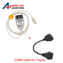 Best Sale MINI VCI V10.30.029 For Toyota/Lexus/Scion TIS Techstream OBD2 USB Cable With OBD Fits Toyota 22PIN to 16PIn