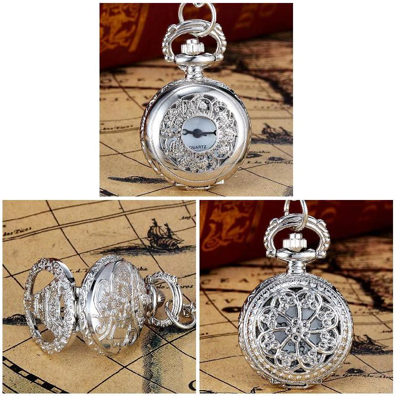 Fashion Unisex Pocket Watch Alloy Openable Craft Carving Vintage Quartz Necklace Pendant Chain Clock Gifts LL@17 vintage charm unisex fashion quartz steampunk pocket watch women man necklace pendant with chain gifts relogio de bolso