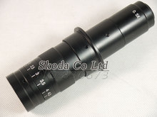 Buy online Free shipping 10X~180X Adjustable Magnification 25mm Zoom C-mount Lens 0.7X~4.5X Industry Microscope Camera Eyepiece Magnifier