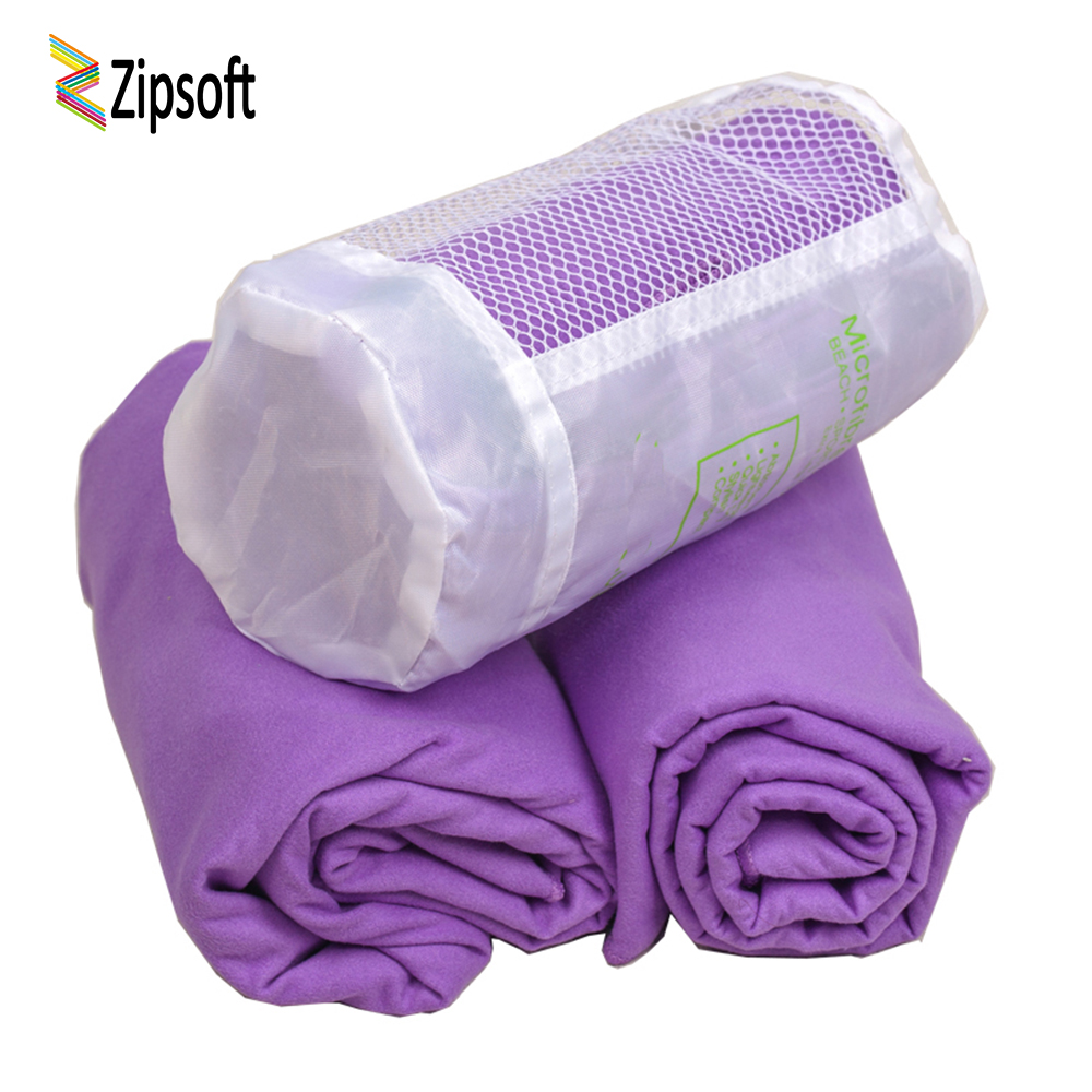 Zipsoft Microfiber Sports Travel Towel with Mesh Bag Beach Bath Towels For Adults Camp Beach Blanket Swimming Yoga Mat Quick Dry 2018 summer beach mat round mandala towel travel shawl blanket sarong beach cover wrap bandana round summer beach blanket