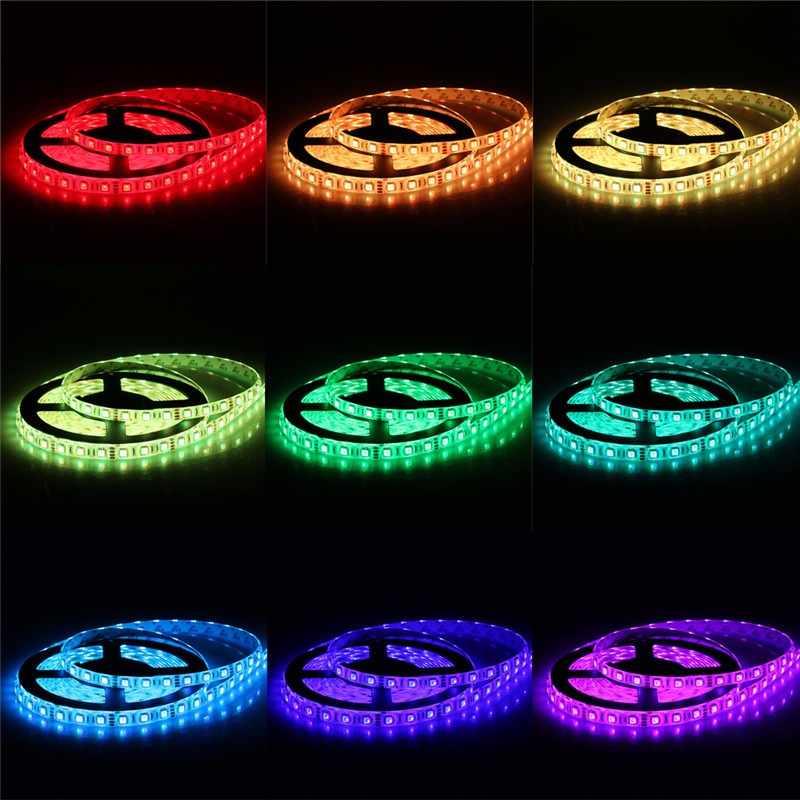 25 M 5050 taśmy LED RGB wodoodporna elastyczna Taśma oświetleniowa 10 M 15 M + 2.4G RF pilot zdalnego sterowania RGB + wzmacniacz RGB + DC12V zasilania