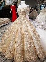 Большой юбка бальное платье вечернее платье без рукавов champagne gold вечерние цвет кружева