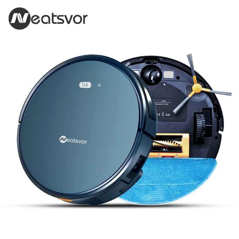 NEATSVOR X500 3in1 Robot Vacuum Cleaner 1800 PA Sucção Potente cabelo do animal de estimação em casa seco e molhado limpar limpeza robot Auto Carga vácuo