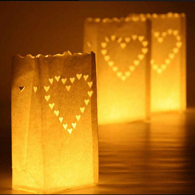 20pcs/lot New Arrival Holder Paper Lanterns Candle Bag For Party Home Outdoor Wedding Decoration