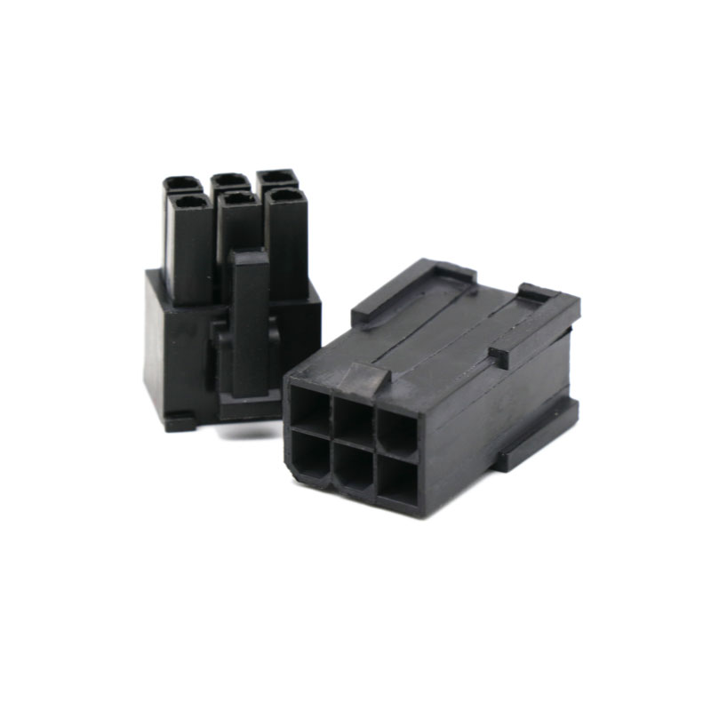 Angitu 4.2mm Black 6 Pin Male Female Housing PCI-E Cable PCI Express Connector