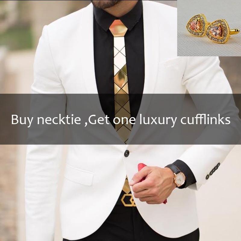 Diamant Plaid Plexigalss Acryl Gold Slim Krawatten Für Männer Mode Dünne Glänzend Seide Krawatten Weihnachten Geschenk Verkäufe Shirt Zubehör Belebende Durchblutung Und Schmerzen Stoppen