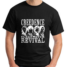 Creedence Clearwater Revival *Gold Rock Legend Mens Black T-Shirt Size S To 3XL Tee Shirt Homme T Men Funny Top