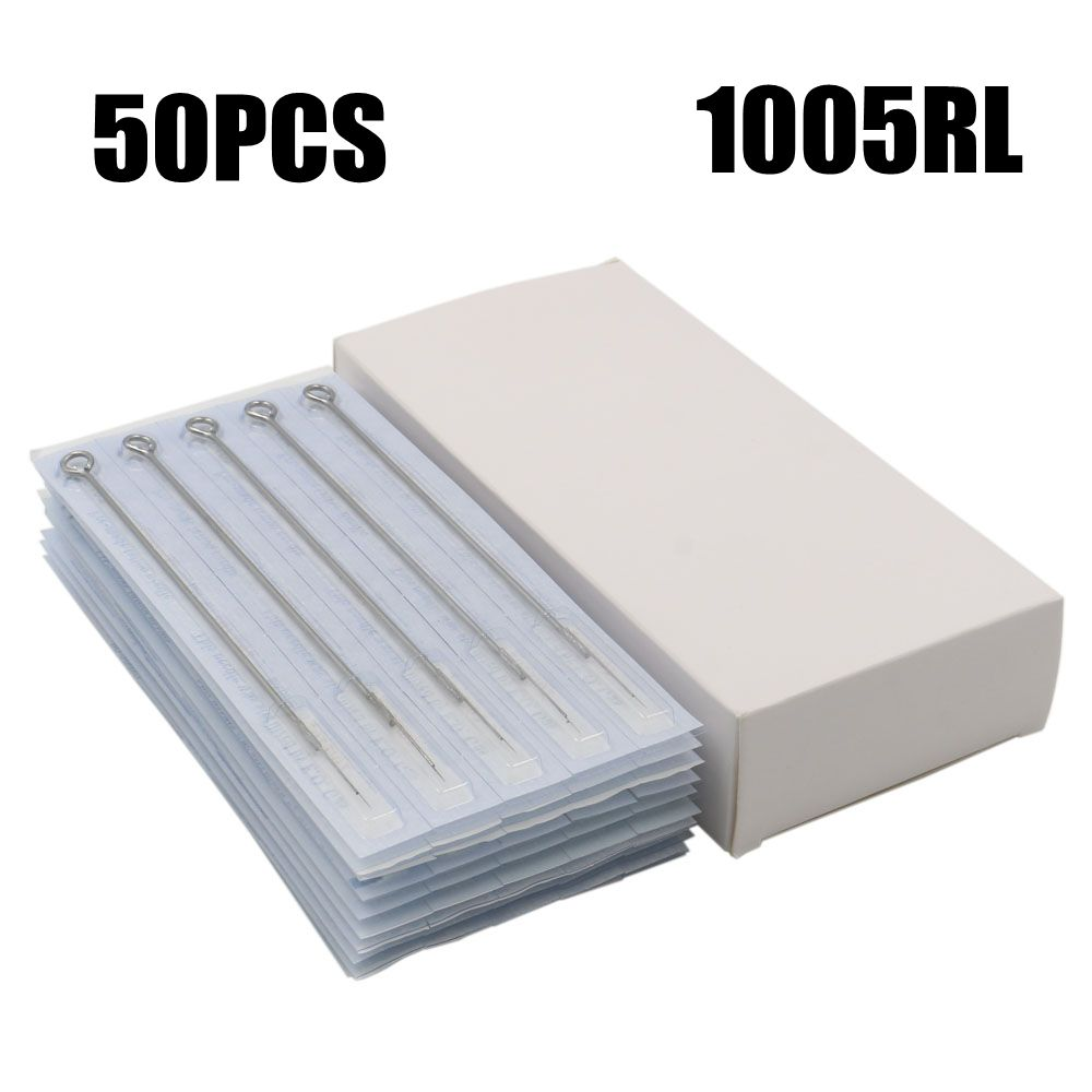 Box Of 50PCS 5RL <font><b>Disposable</b></font> <font><b>Sterile</b></font> <font><b>Tattoo</b></font> <font><b>Needles</b></font> <font><b>5</b></font> <font><b>Round</b></font> Liner Standard Tatoo <font><b>Needles</b></font> Supply For <font><b>Tattoo</b></font> Machine