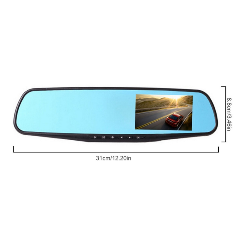 Image 4 - 2.8 inch HD 1080P Car DVR Mirror 120 Degree Auto Driving Video Recorder 12.0MP Car Dash Camera Car DVR Camera-in DVR/Dash Camera from Automobiles & Motorcycles