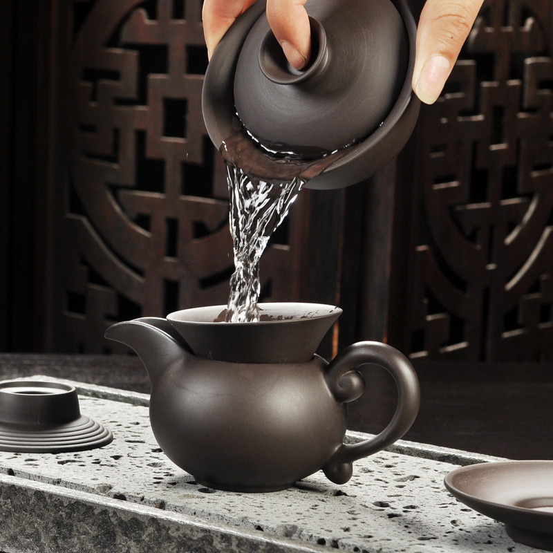 Yixing Purple Sand Gong Fu Tea Ceremony Set 2