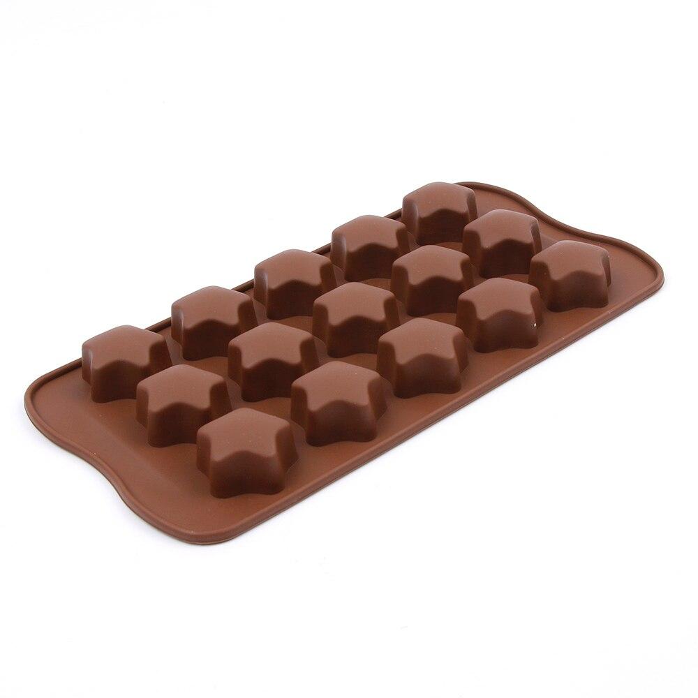Silicone Ice Cube moulds 15 lattices DIY chocolate star shape silicone molds Fondant Cake Decorating Tools
