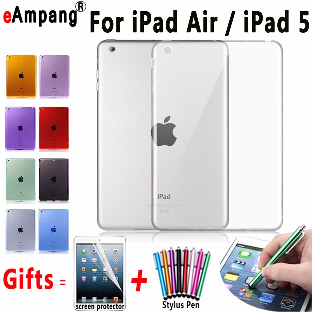 For Apple iPad Air Case Slim Ultra Slim Back Cover for iPad Air 1 Case Soft Clear TPU Cover for iPad 5 A1474 A1475 A1476 Case ctrinews for ipad air 1 case clear transparent soft tpu silicone back case for apple ipad 5 air 1 tablet pc protective cover