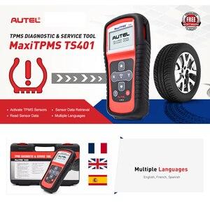 Image 2 - Autel herramienta de diagnóstico TS401 TPMS para neumáticos probador de presión de neumáticos con Sensor MaxiTPMS, 315mhz, 433mhz