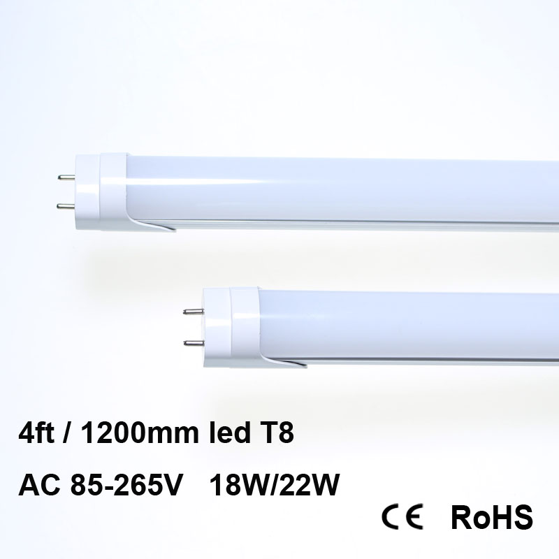 T8 LED Tube Light 4ft 48,18W,5000K Daylight, 2,000 Lumens, Works WITH or Without a Ballast Fluorescent Replacement Light Lamp t8 led tube 1200mm light 18w120cm 4ft 1 2m g13 with holder fixture high power smd2835 fluorescent replacement 85 265v