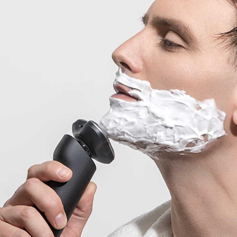 Xiaomi חשמלי מכונת גילוח Mijia תער גילוח זקן מכונה לגברים יבש רטוב זקן גוזם נטענת רחיץ 3D ראש כפול להבים