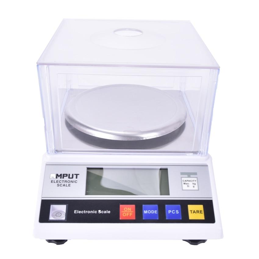 1 pièces précision laboratoire balance analytique 2000g x 0.01g bijoux diamant or banc de pesage balance de cuisine 7.5 V 200MA