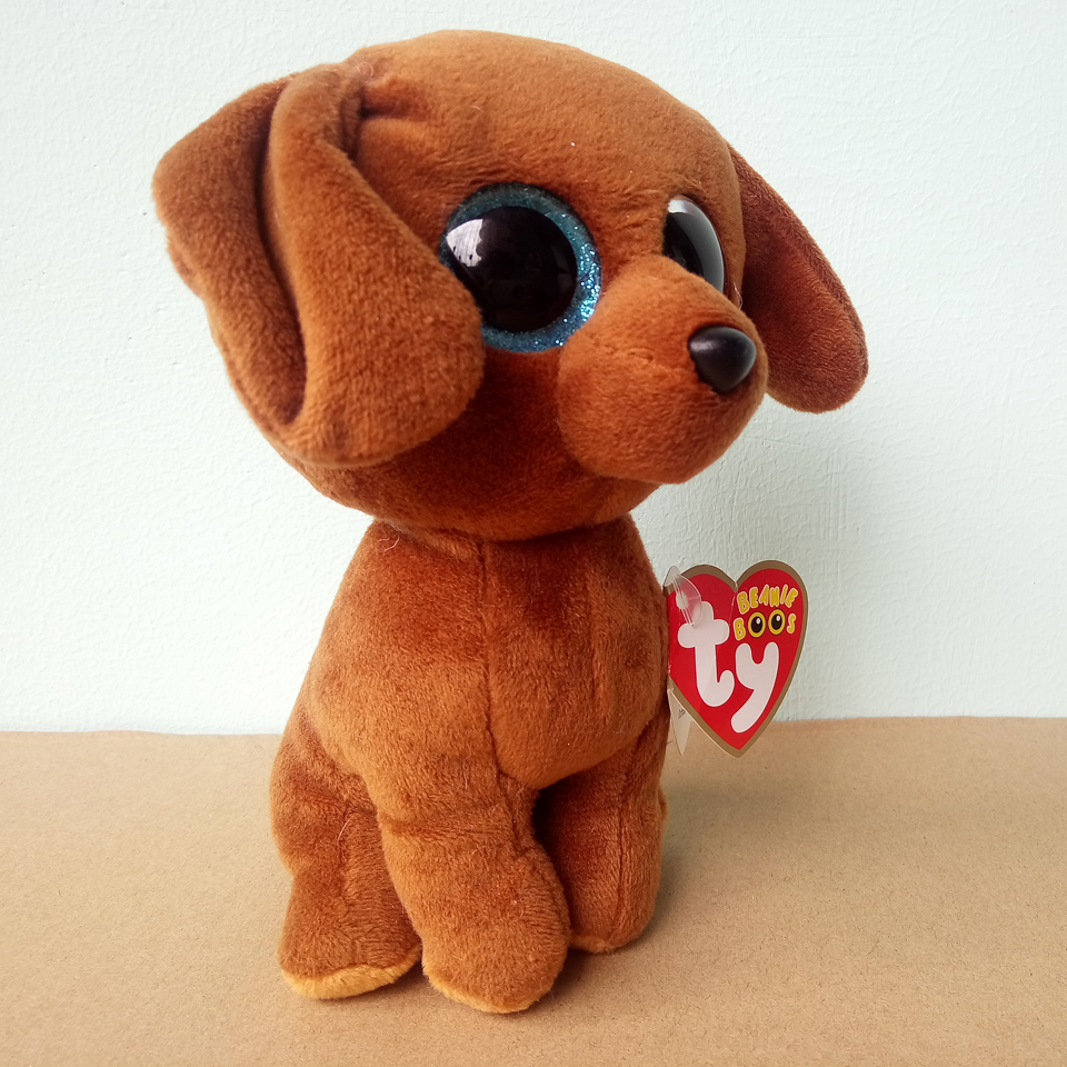 Plush Dolls Ty Beanie Boos 6 15cm Dougie Brown Dachshund Dog