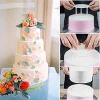 5 juegos de herramientas para hornear pasteles pastel 6/8 pulgadas soporte estante Junta doble capa multi pastel Fondo marco con DE PAJA