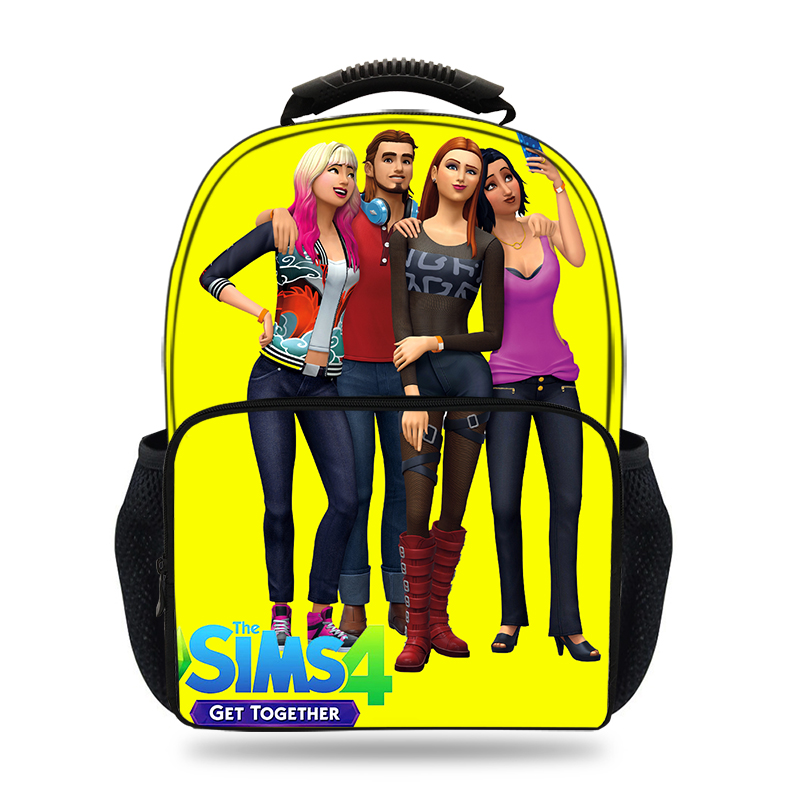 New 15inch Game The Sims 3&4 Set Print Backpack Kids School bags for boys laptop Backpack teenage girls travel backpack Mochila электронный ключ microsoft the sims 4 жизнь в городе