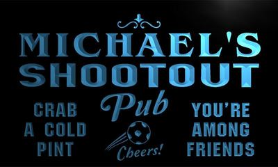 x0004-tm Michaels Shootout Pub Custom Personalized Name Neon Sign Wholesale Dropshipping On/Off Switch 7 Colors DHL