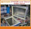 Plantilla láser 37*47 CM PCB PCBA smt plantilla con marco y sin marco PCB PCBA montaje acero inoxidable plantilla