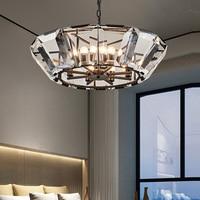 Роскошный стеклянный светодиодный светильник для столовой, художественные ледяные фонари лампы, современные призмы, хрустальные люстры, д