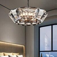 Dining room Luxury glass LED Lighting art ice lantern Lamps Modern Prism Crystal Light home led Chandelier Crystal Chandeliers
