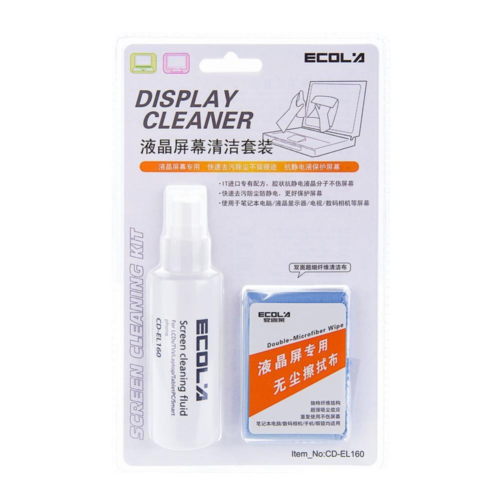 Ecola CD-EL160 Computer Monitor Cleaner, LCD Screen Phone Tablet Screen Cleaner.