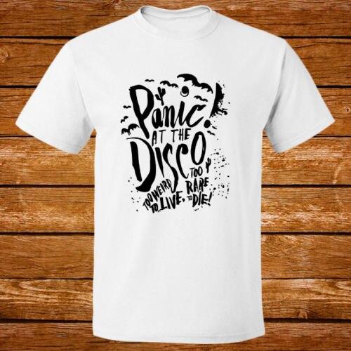 Gildan Panic At The Disco Rock Band Logo New White T-shirt