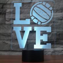 LOVE 3D Lamp LED  7 Color Change Sensor Remote Letter 3D Night Light Home Room Decoration Desk lamp Best Child Gift