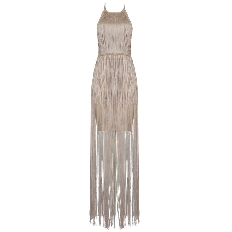 2019 夏の女性のドレスクラブ包帯ドレスセレブタッセルボディコン秋の夜のパーティーセクシーなノースリーブの服  グループ上の レディース衣服 からの ドレス の中 2