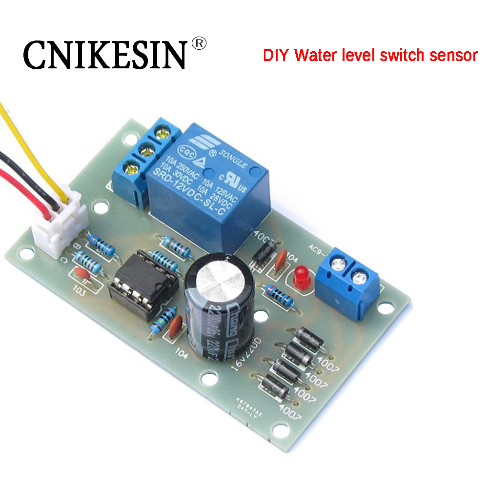 CNIKESIN diy 12V Water Level Switch Sensor Controller Automatic Pumping Water Tank Tower Pool Electronic Diy Production Suite